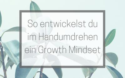 Im Handumdrehen zum Growth Mindset